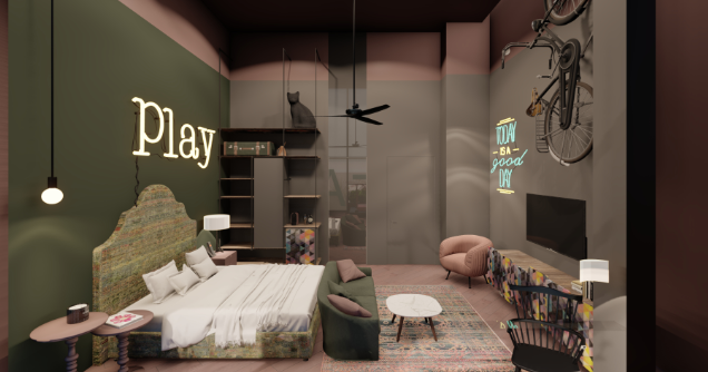 חדר במלון PLAY MIDTOWN TEL AVIV