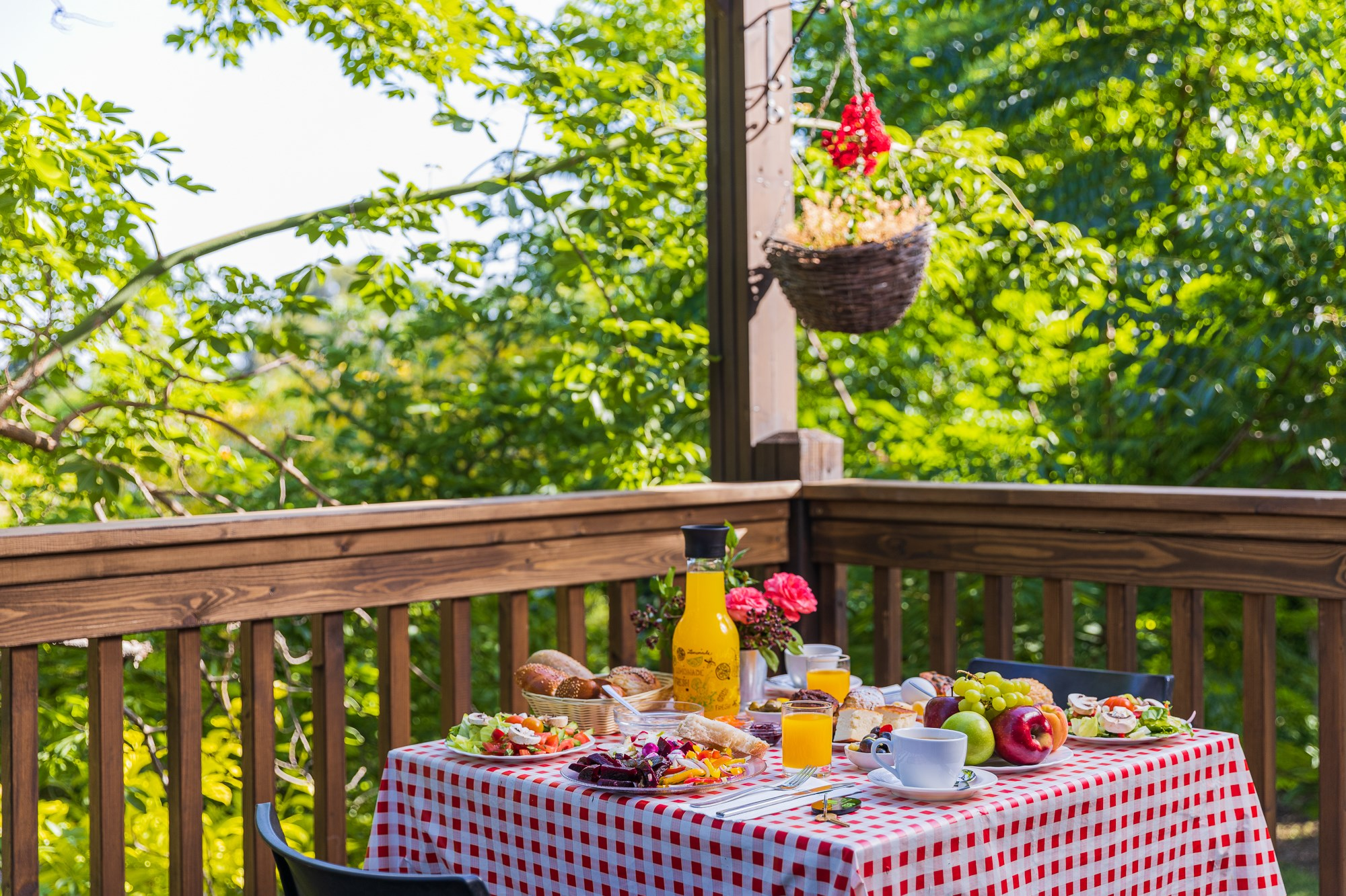 ארוחת בוקר בבקתה